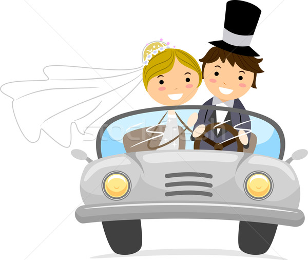 Stock photo: Bridal Car