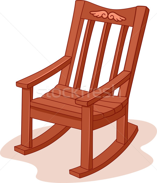 Rocking chair vector illustration lenm
