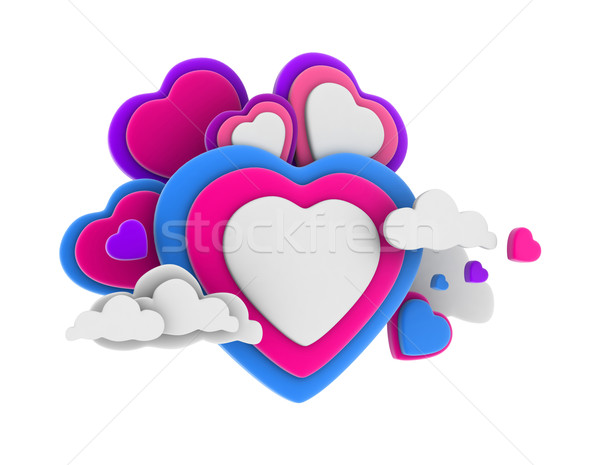 Stock photo: Heart Shaped Clouds