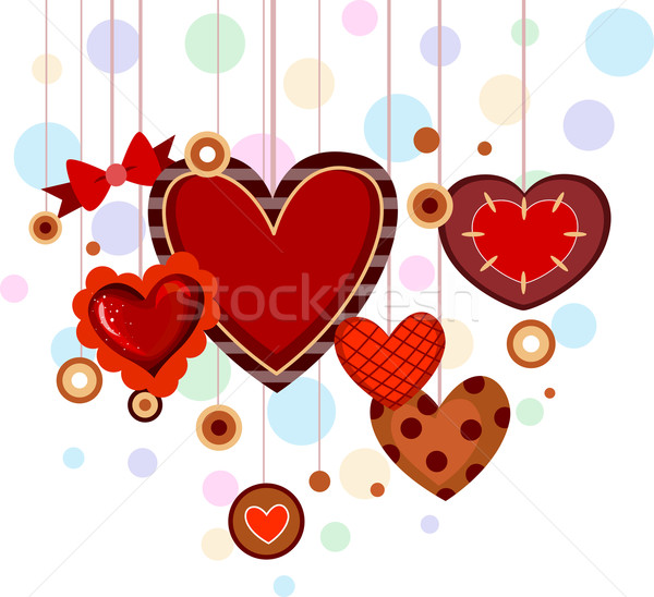 Stock photo: Heart Strings