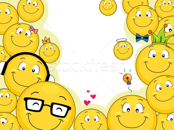 Smiley Family Background Vector Illustration 169 Lenm