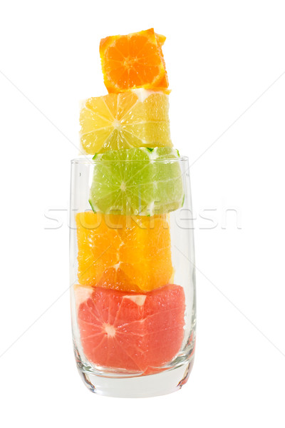 Stock photo: Natural fruit juice with high fiber content