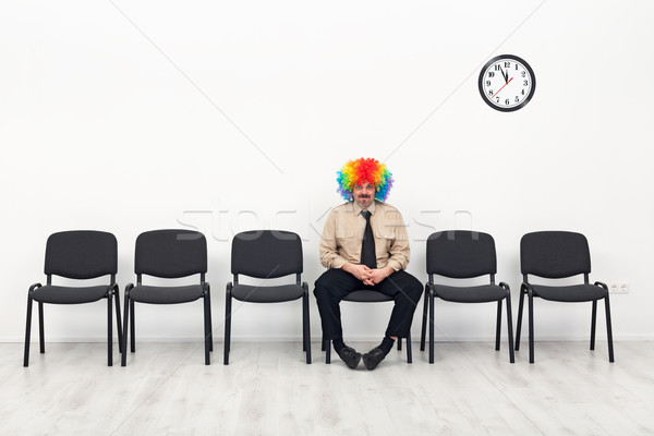 Stock photo: Last man standing - waiting concept