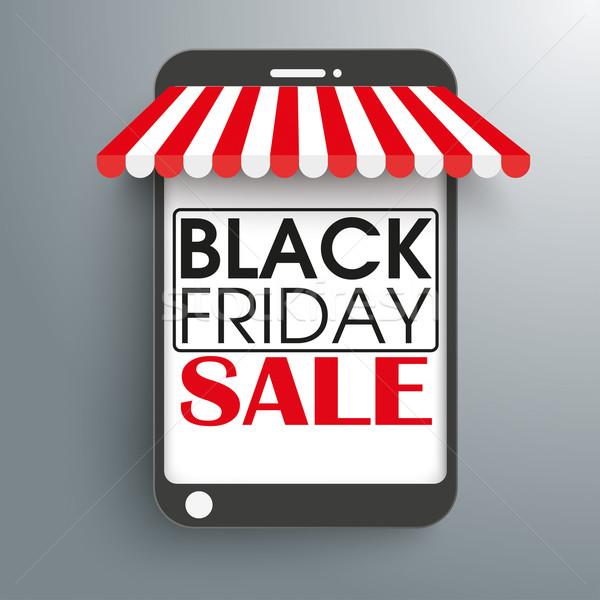 Curtains Ideas black friday curtain sales : Smartphone Shop Curtain Black Friday vector illustration ...