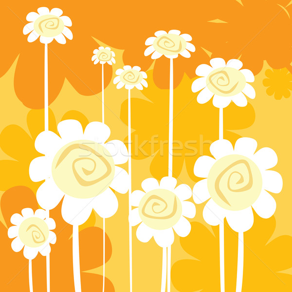Stock photo: art deco floral card