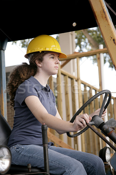 Stock photo: Female Equipment Operator
