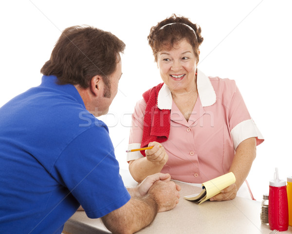 Stock photo: Waitress Takes Order
