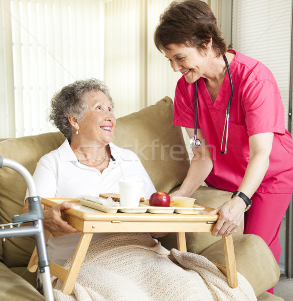 Stock photo: Lunch at Retirement Home