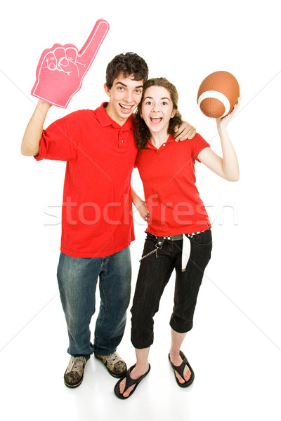 Stock photo: Teen Sports Fans