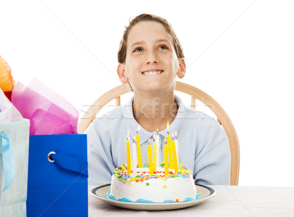 making a birthday wish