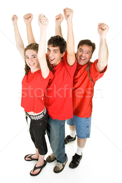 Stock photo: Football Fans Cheering