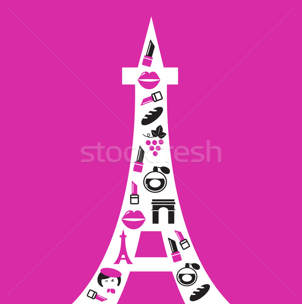 Add to lightbox Download comp Eiffel Tower Silhouette Pink