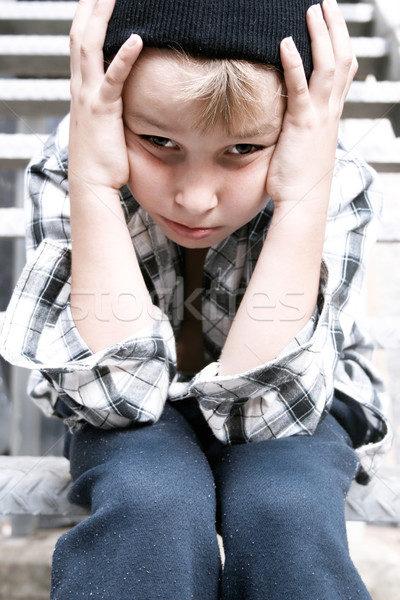 Stock photo: Street Kid feeling helpless