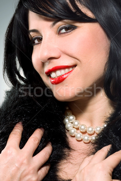 Stock photo: Beautiful Woman Pearly Smile