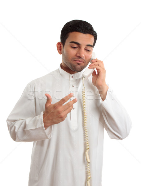 Stock photo: Middle eastern arab businessman on the phone