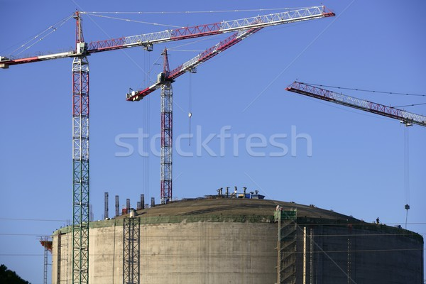 Stock photo: Big chemical tank petrol container oil industry