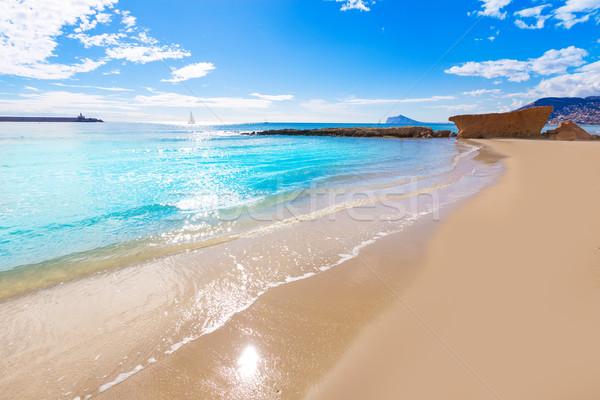 Песчаный пляж аликанте фото