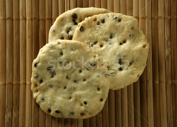 Stock photo: Sesame seeds biscuits