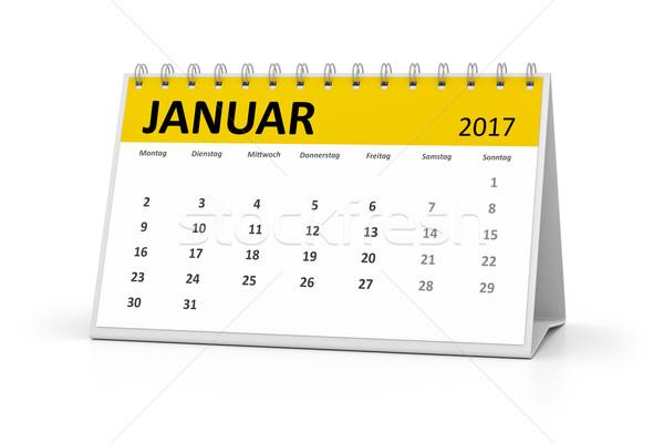 german language table calendar 2017 january stock photo © Markus ...