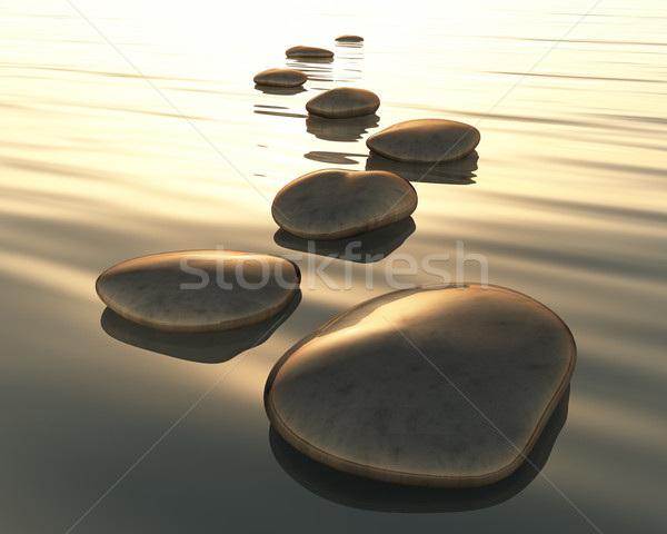 Stock photo: step stones