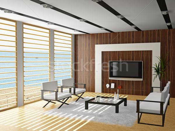 Stock photo: Living room 3D