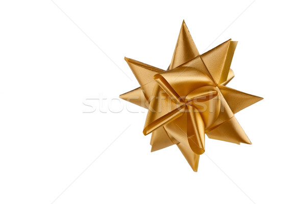Stock photo: gold decorative christmas star