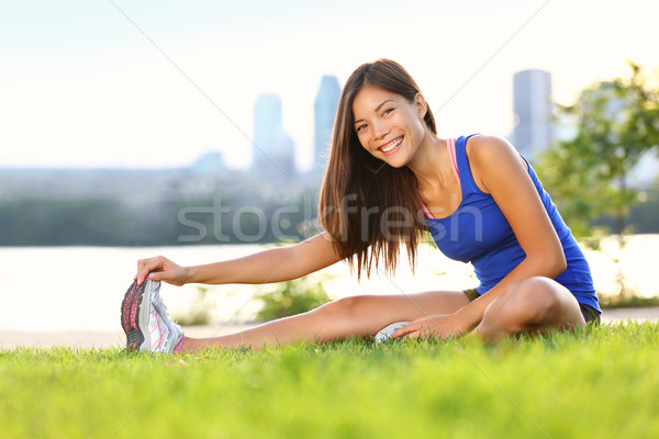 Stock photo: Exercise woman stretching