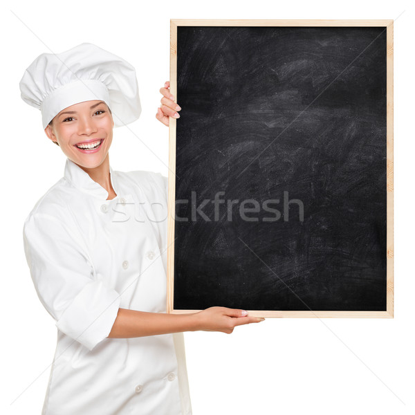Stock photo: Chef showing sign
