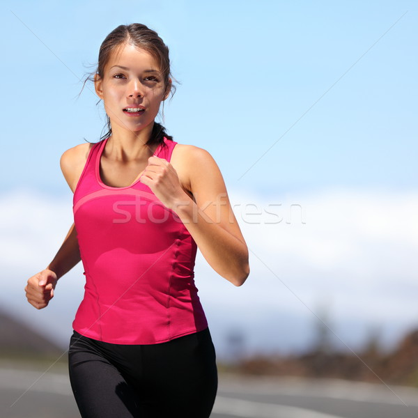 Stock photo: runner - woman running
