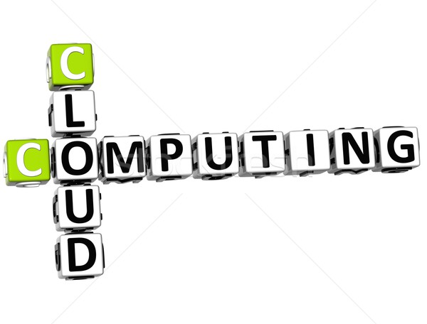 Stock photo: 3D Cloud Computing Crossword