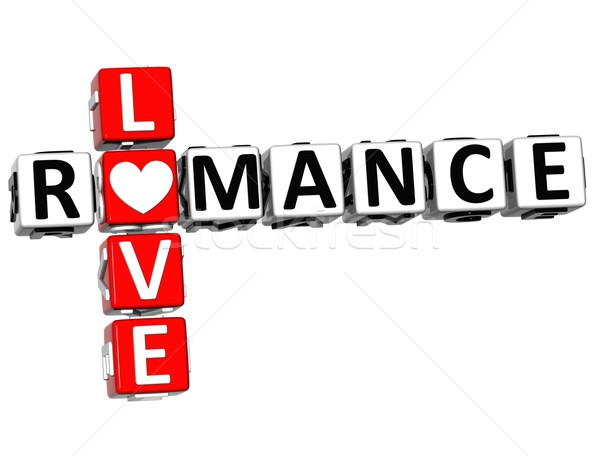 Stock photo: 3D Romance Love Crossword text