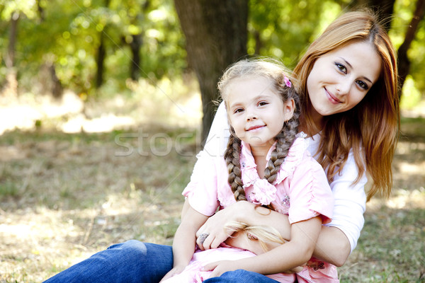 Stock photo: Mother and daughter at the park.