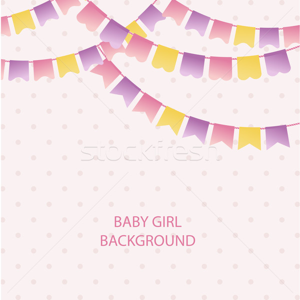 bunting flags for girl 39 s baby shower background cute flag garl by