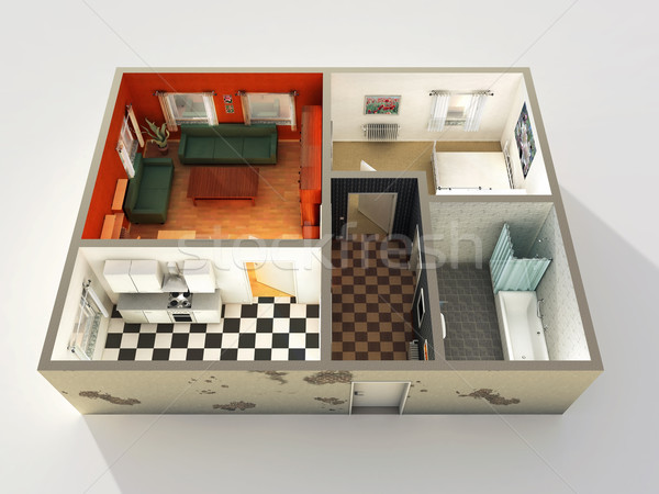 Stock photo: house 3d design