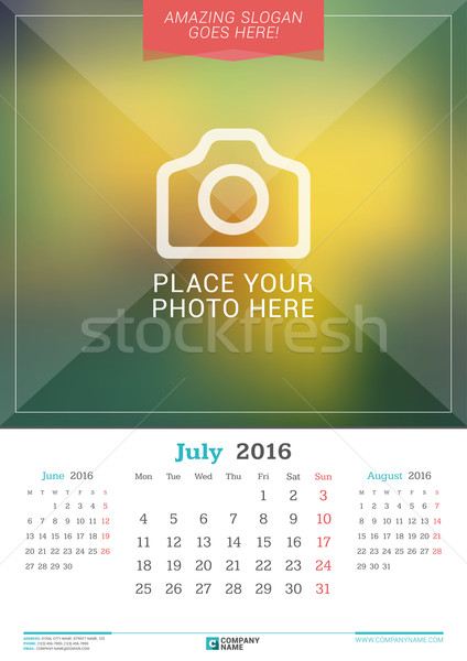 Страницу календаря июнь