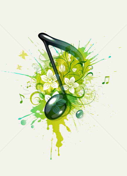 Stock photo: Musical note