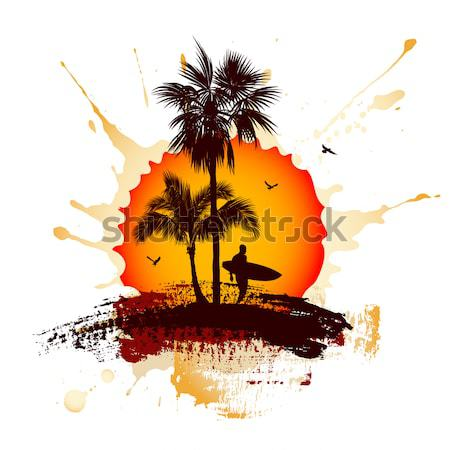 Stock photo: Summer tropical background