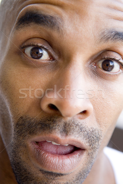 Stock photo: Head shot of surprised man