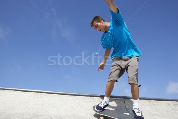Stock photo: Teenage Boy In Skateboard Park