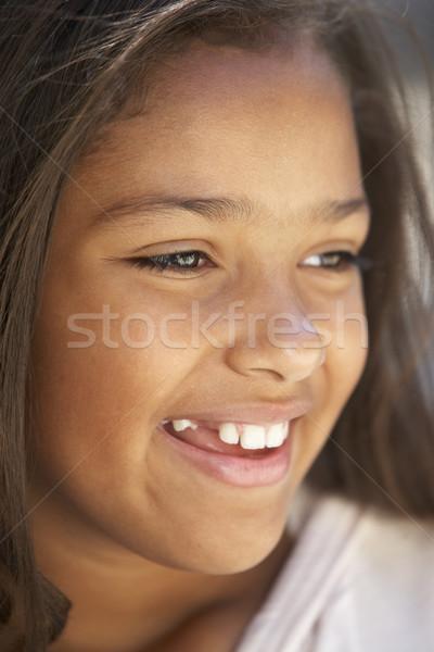 Kids Portraits, Girl, Sad, Unhappy, Worried, Upset, Kids, Headsh stock ... Worried Girl With Brown Hair
