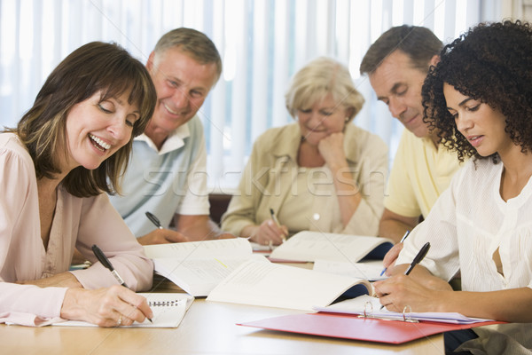 Stock photo: Adult students studying together