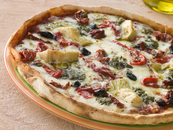 Stock photo: Roasted Vegetable Pizza