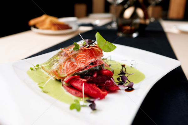 Stock photo: Smoked trout