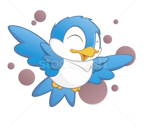 Stock photo stock vector illustration cartoon bird isolated