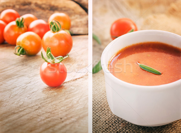 Stock photo: Tomato soup collage