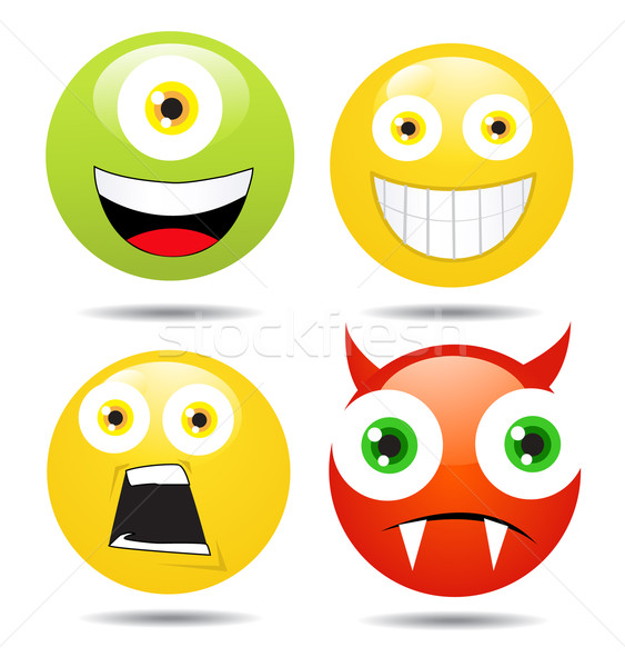 Stock photo:  Set of smileys