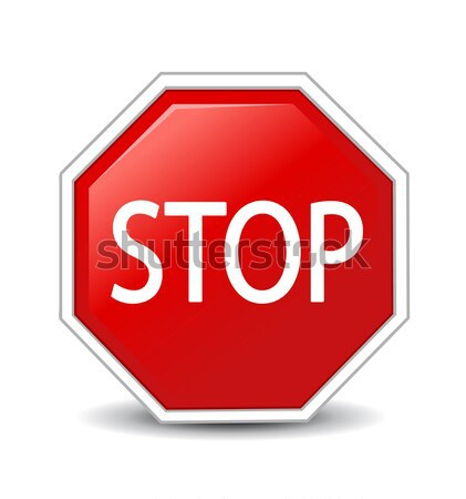 Stock photo: Vector illustration of Stop sign