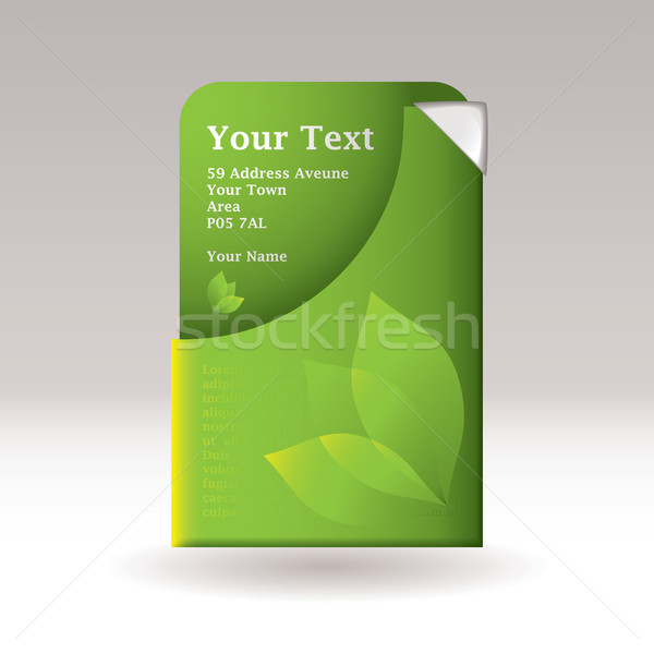 Stock photo: Business card slip