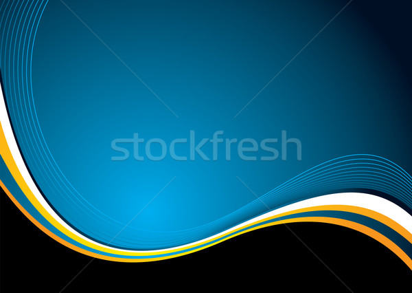 Stock photo: autumn wave new