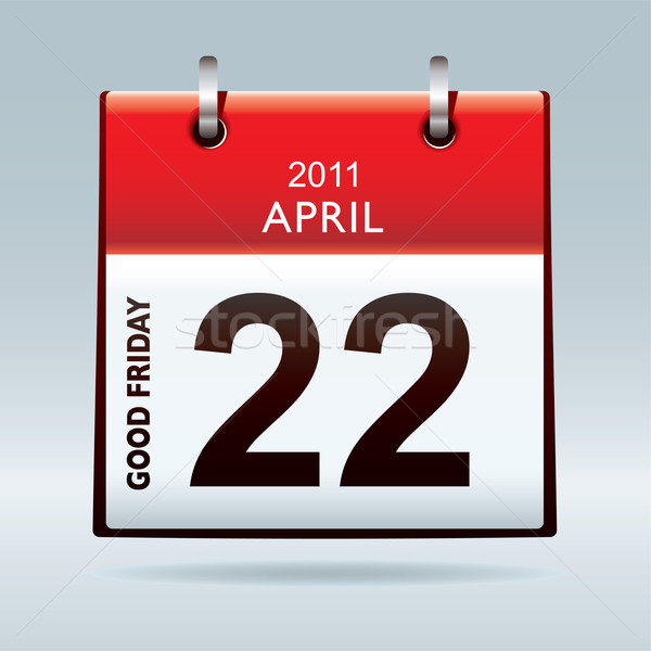Stock photo: Good Friday calendar icon